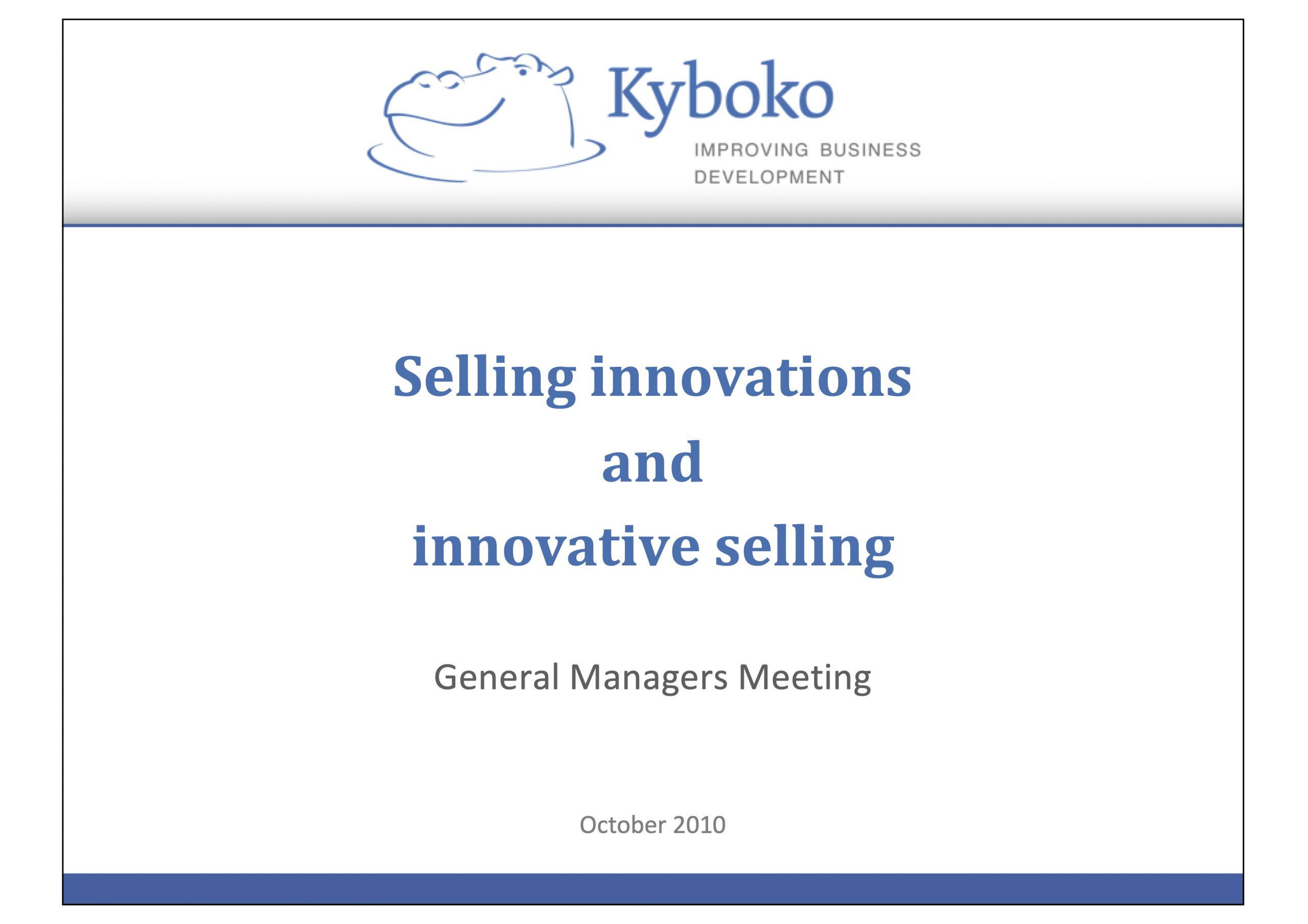 selling innovations