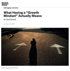 growth mindset dweck